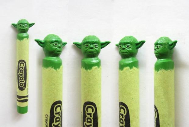 Wax Nostalgic Carved Crayons by HoangTran - Yoda