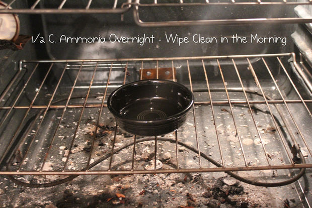 Clean your oven with simple ammonia.