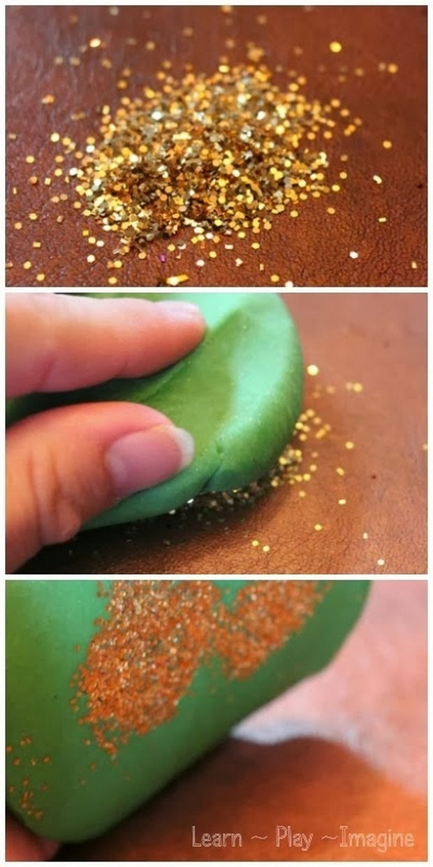13 Home Cleaning Tips Using Normal Household Ingredients - Use Play-Doh to pick up glitter or messy materials.