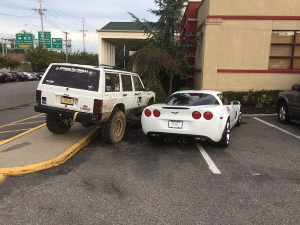 22 Bad Parking Jobs - Corvette parking space