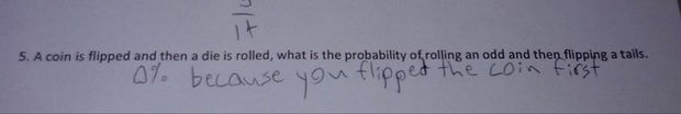 29 Funny Test Answers - Who flipped it first?