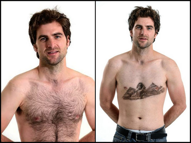 Chest Hair Art by Daniel Johnson - The pyramids.