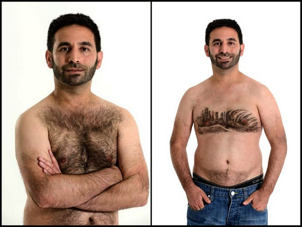Chest Hair Art by Daniel Johnson - Sydney Harbor.