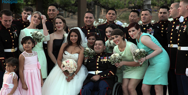 California Town Gives Triple Amputee Marine a Dream Wedding