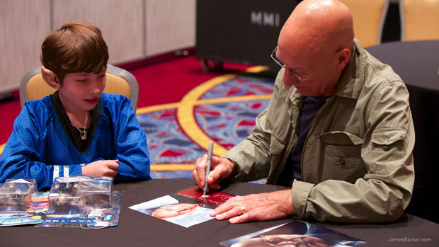 Patrick Stewart Is a Class Act and Made Her WIsh Come True 02