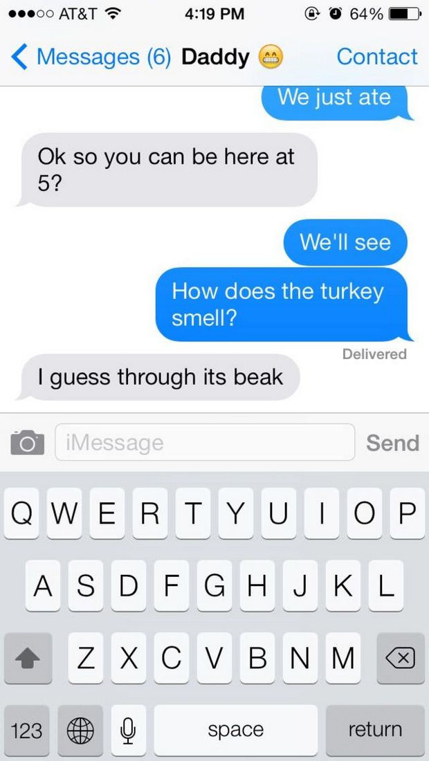 17 Funny Texts from Parents - Technically, he's right!
