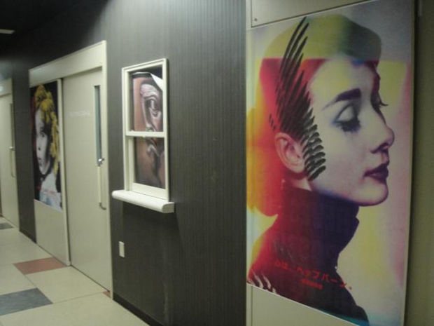 Hospital in Japan - Hollywood inspired art pieces (Can you spot Shirley Temple?)