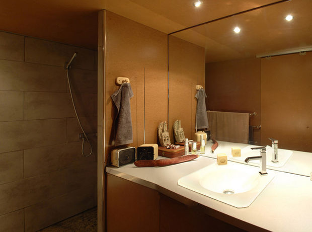 Epic Garage Conversion - A nice contemporary washroom with all amenities.