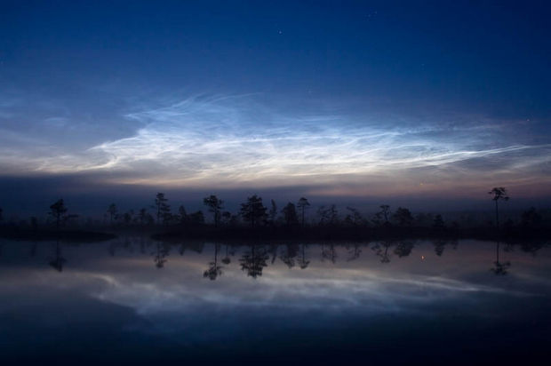 12 Types of Clouds That Are Awesome - Noctilucent (night) clouds.