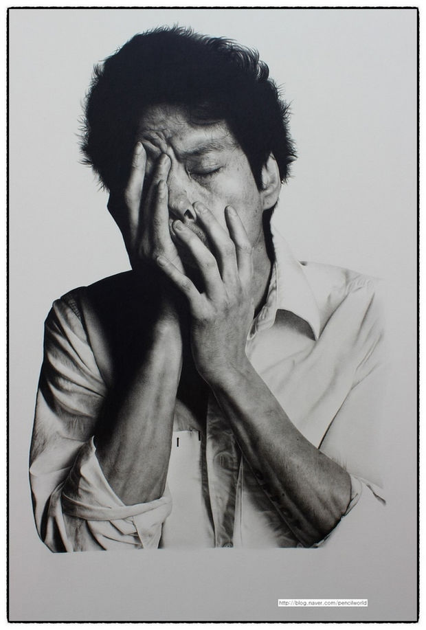 25 Amazingly Realistic Art Paintings - Kim Ji-hoon - Pencil.