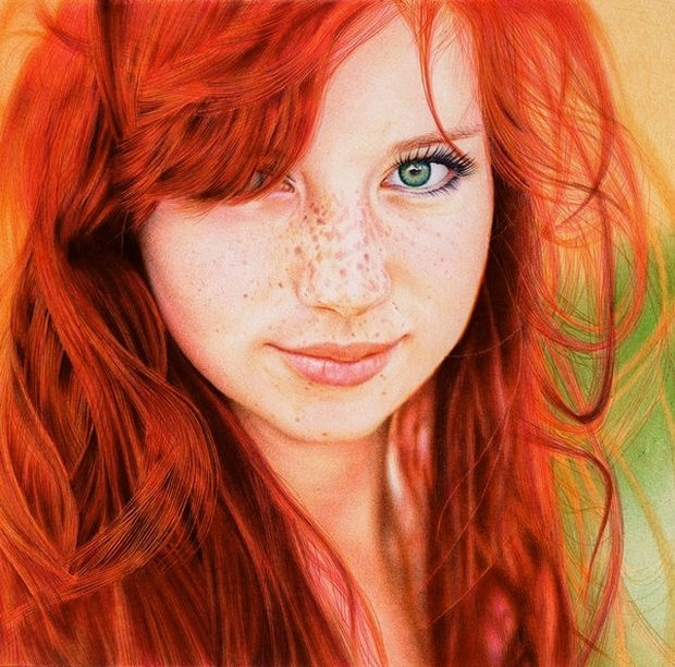 25 Amazingly Realistic Art Paintings - Samuel Silva - Ballpoint pen.