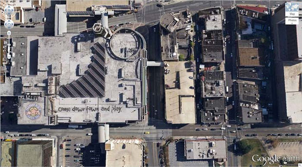 25 Weird Things Found on Google Maps - I don't think I want to come downtown and play...creepy.