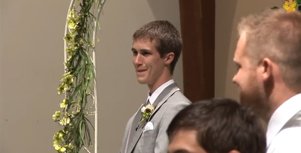 Bride Sings 'Look at Me' to Her Future Husband down the Aisle
