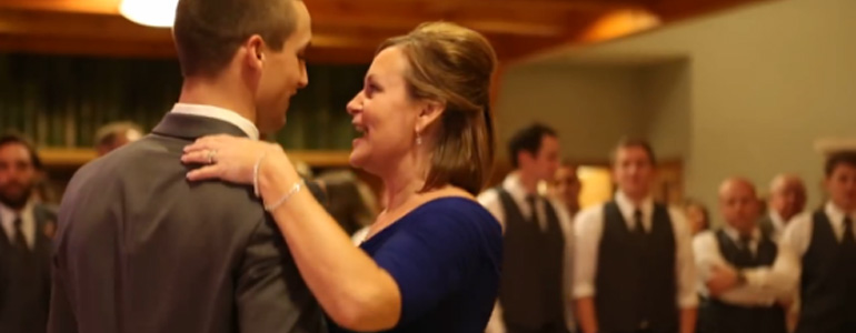 Mother-Son Wedding Dance Featuring Pop Song Mashup