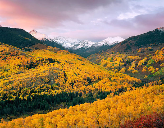 Fall colors in Capitol Creek Valley - Colorado.