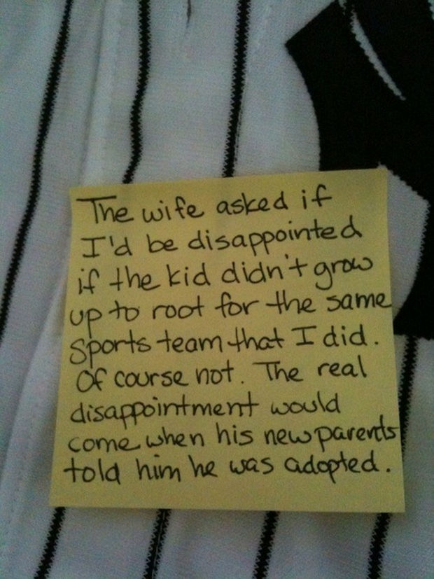 Stay At Home Dad Writes Funny Post It Notes For His Wife