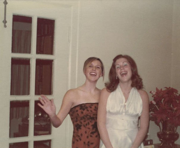 Danielle on the left singing with her mother.