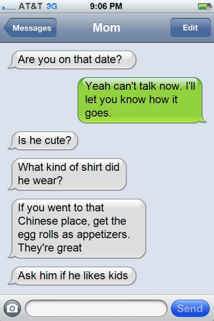 14 Funny Mom Texts - I think its a little too soon to talk about that...