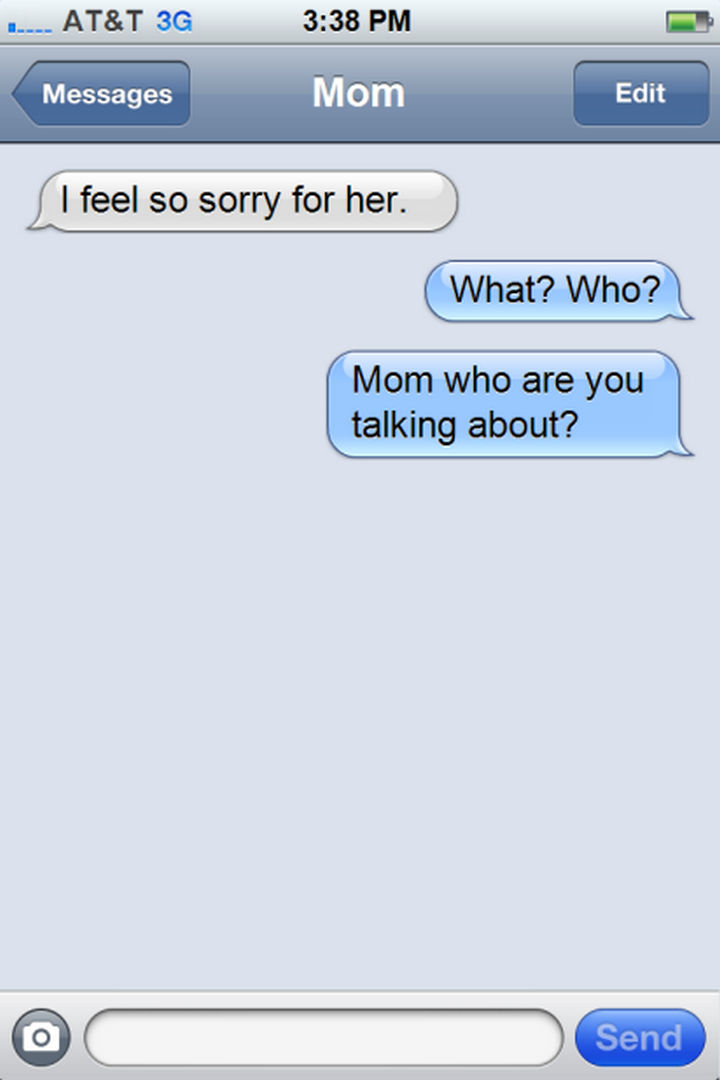 14 Funny Mom Texts - A little cryptic...