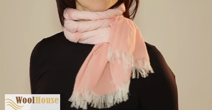 Style #9 - 19 awesome ways to tie a scarf or shawl.
