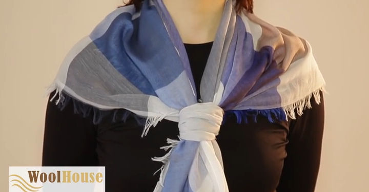 Style #15 - 19 awesome ways to tie a scarf or shawl.