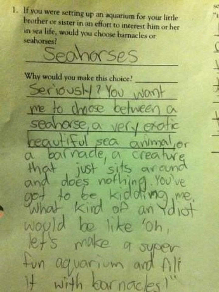 19 Clever Kids - He does have a point. Genius.