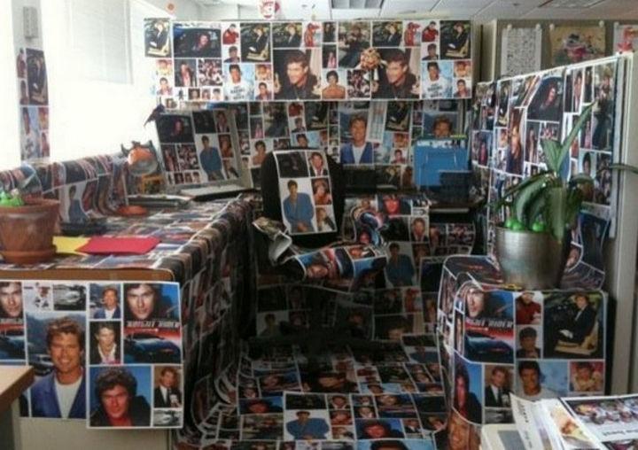 """25 Office Pranks - For """"The Hoff"""" fan."""