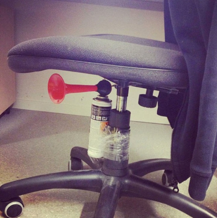 25 Office Pranks - If this doesn't get your co-worker off their chair, I don't know what will.