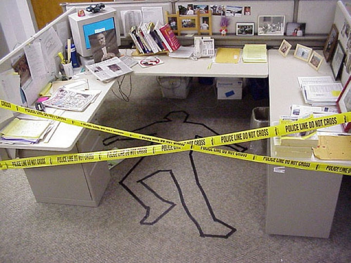 25 Office Pranks - Don't mess with the Godfather.