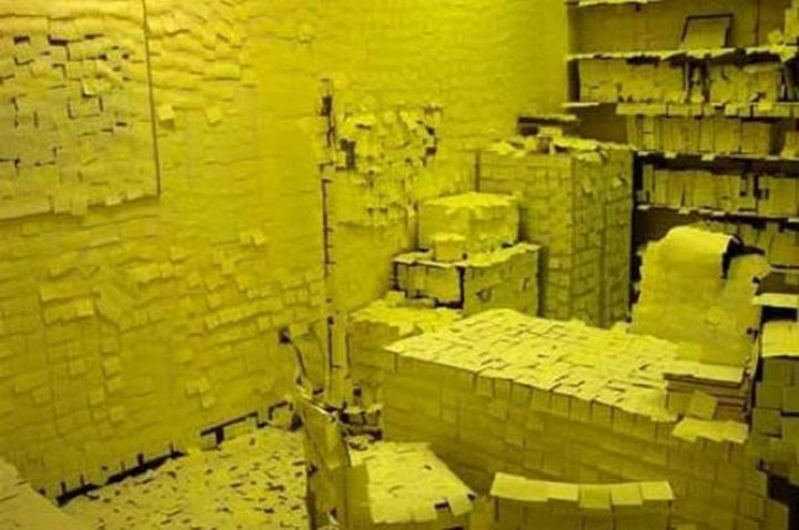 25 Office Pranks - There is always at least one person in the office that overdoes it with Post-it notes.