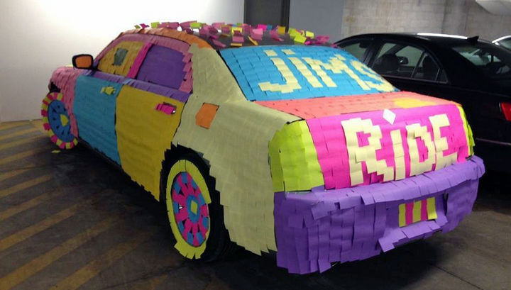 25 Office Pranks - Pimpin' their ride at work.