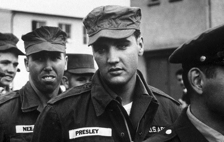 Elvis Presley during his service in the U.S. Army in 1958.