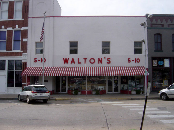 Sam Walton's Five and Dime opened in 1950 in Bentonville, Arkansas. After much success, Sam Walton opened his first Walmart in 1962 in Rogers, Arkansas.