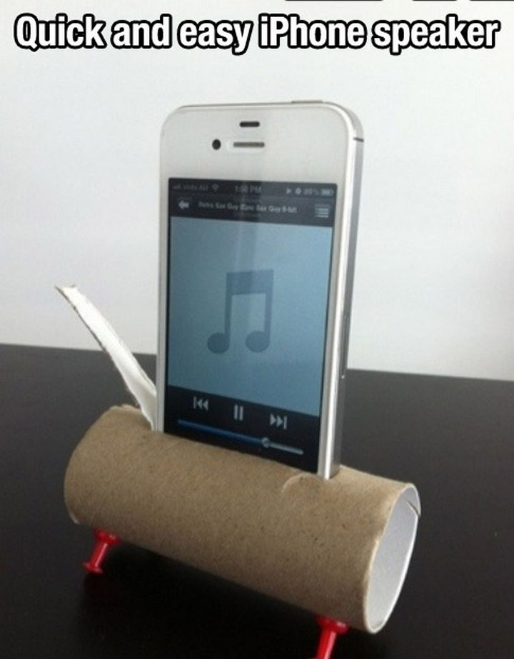 52 Cleaning and Life Hacks - Quick and easy iPhone speaker.