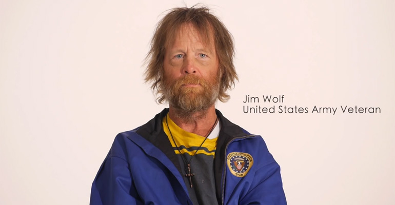 Homeless United States Veteran Jim Wolf Gets A Makeover.