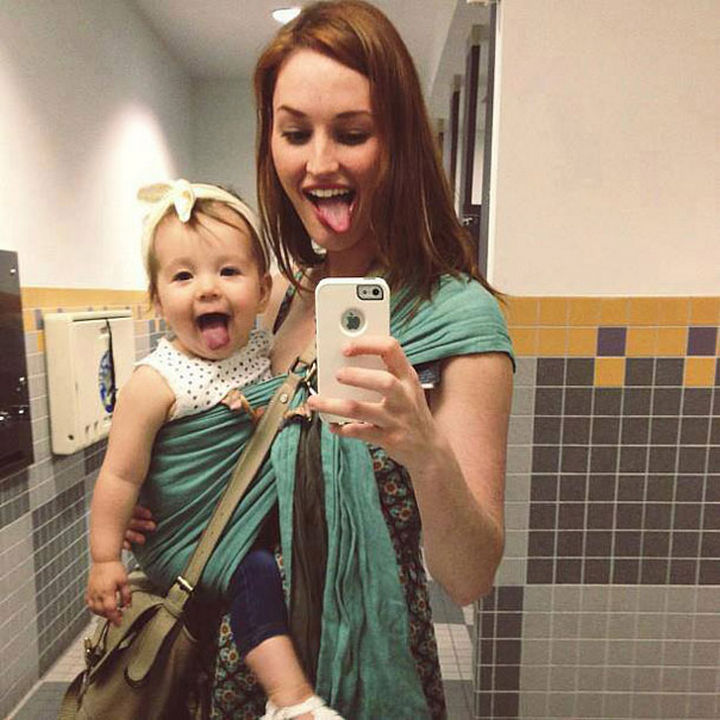 20 Mother and Daughter Pictures - Being silly with mommy.