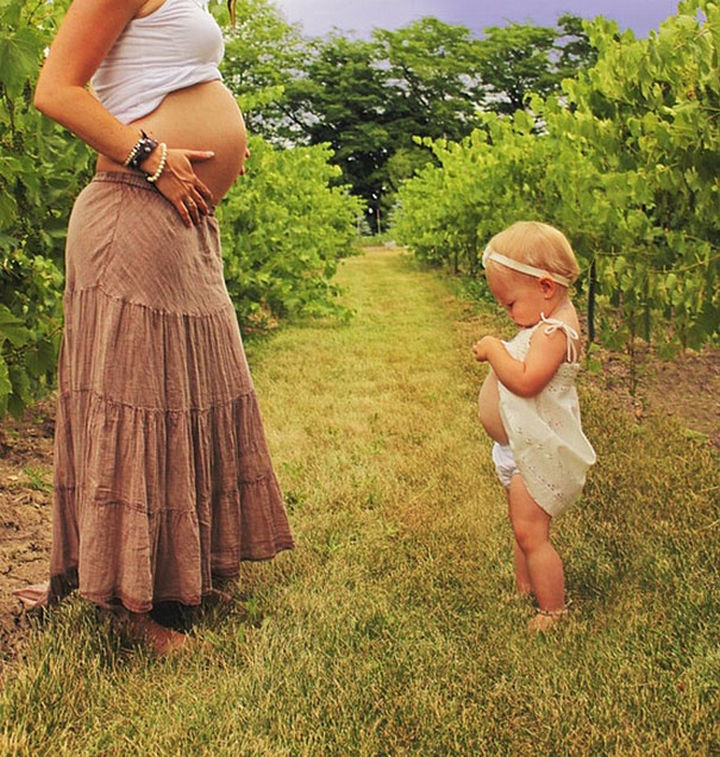 20 Mother and Daughter Pictures - Special moments in the garden.