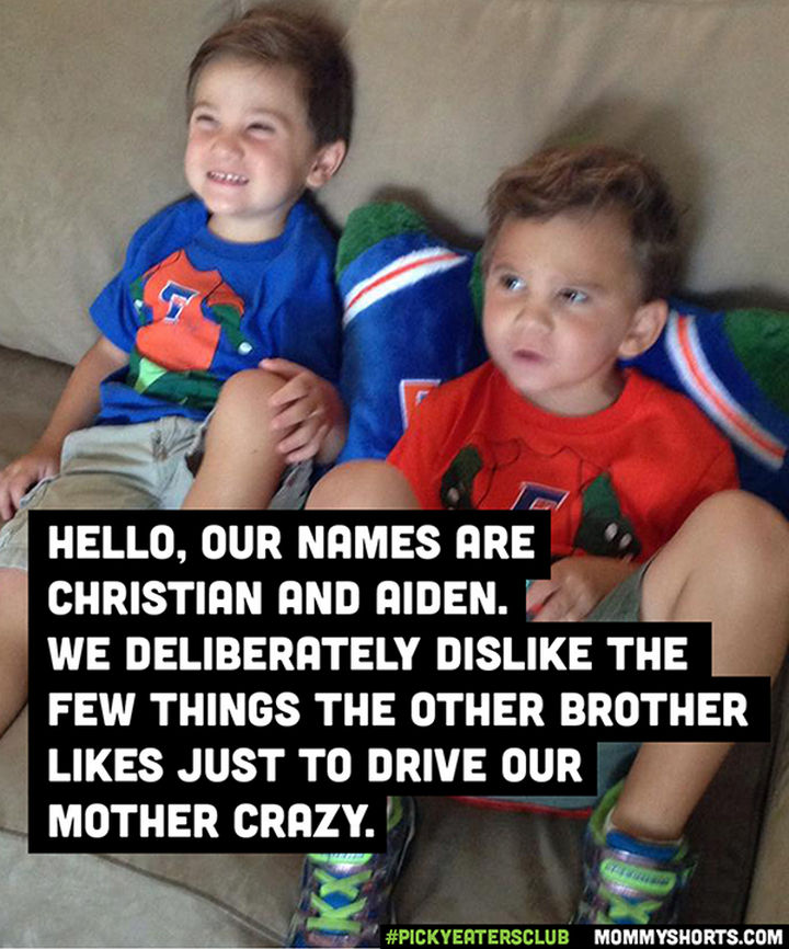 Picky Eaters Club - Hello, our names are Christian and Aiden...
