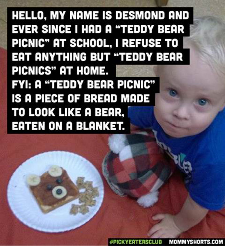 Picky Eaters Club - Hello, my name is Desmond...