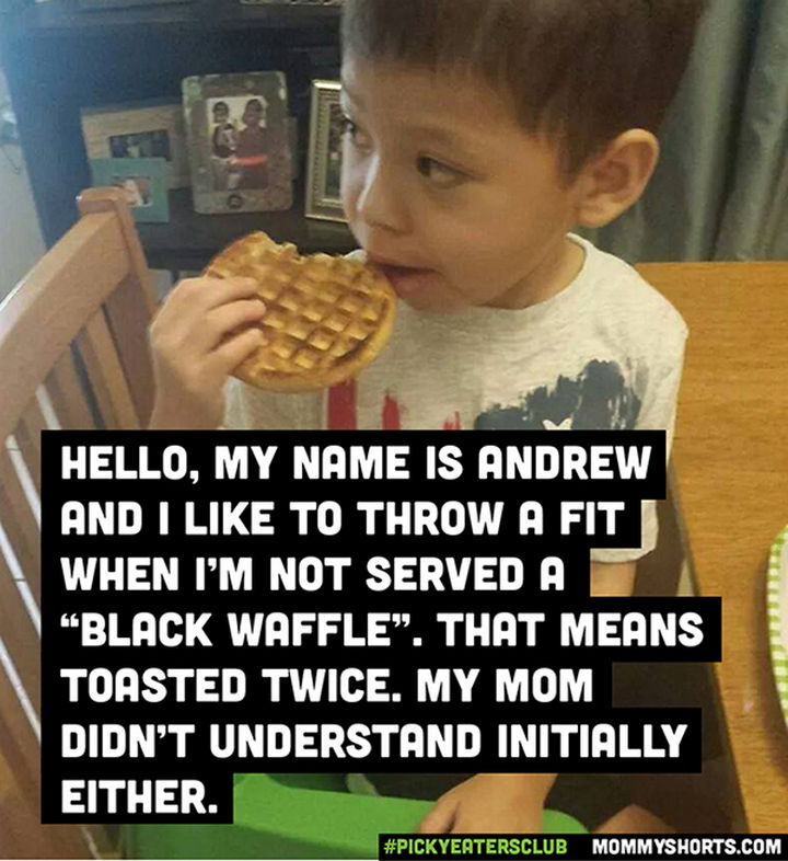 Picky Eaters Club - Hello, my name is Andrew...