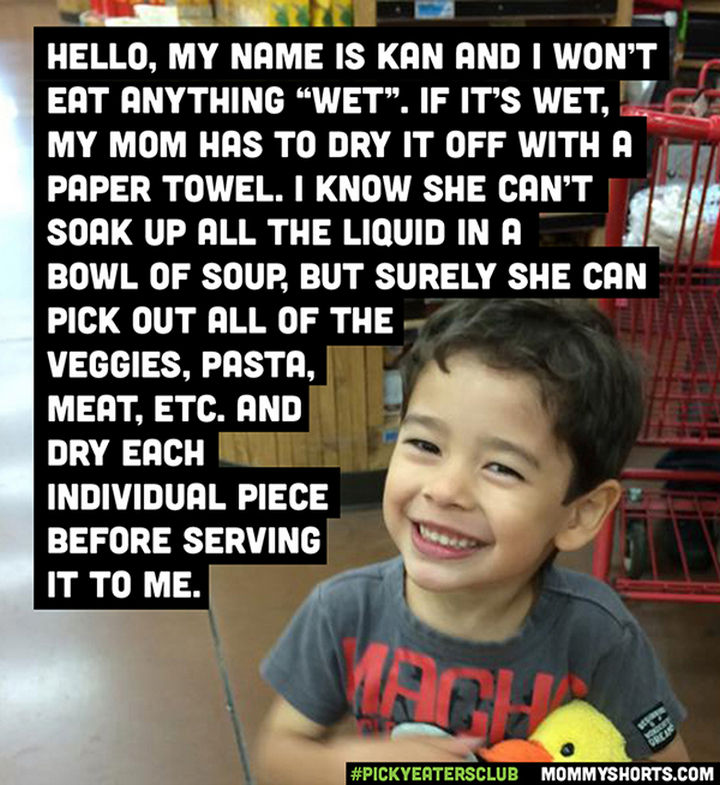 Picky Eaters Club - Hello, my name is Kan...