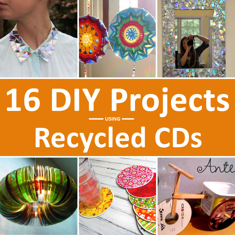 82eb5e2e43c 16 DIY CD Craft Projects You Can Make Using Old and Scratched CDs