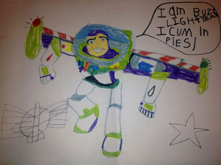 "18 Funny Spelling Mistakes - ""I am Buzz Lightyear, I COME in peace?"""