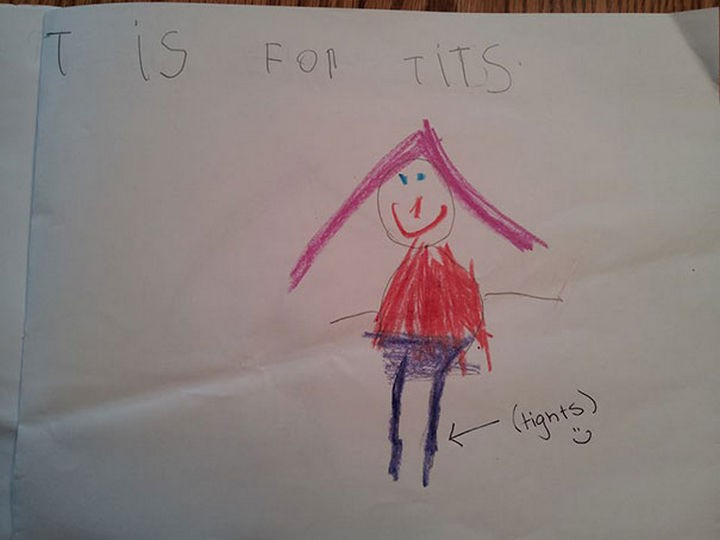 "18 Funny Spelling Mistakes - ""T is for TIGHTS?"""