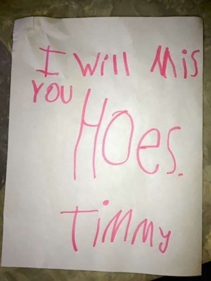 "18 Funny Spelling Mistakes - ""I will miss you HOUSE?"""
