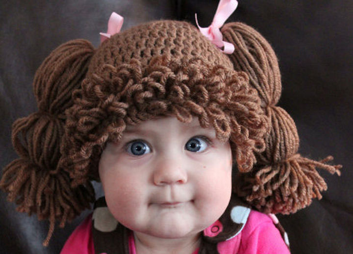 21 Crocheted Winter Hats - Cabbage Patch Kid-Inspired Hat.