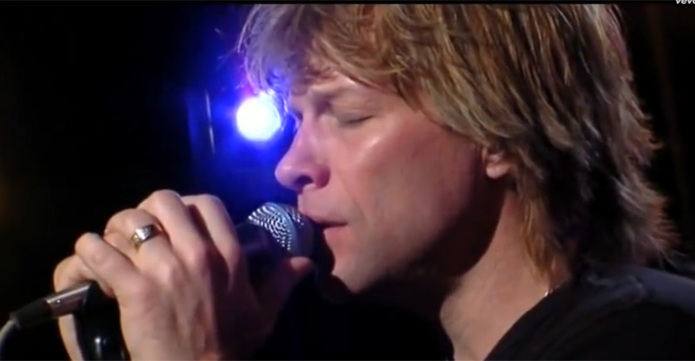 Bon Jovi Sings 'Hallelujah', a Classic Leonard Cohen Song.