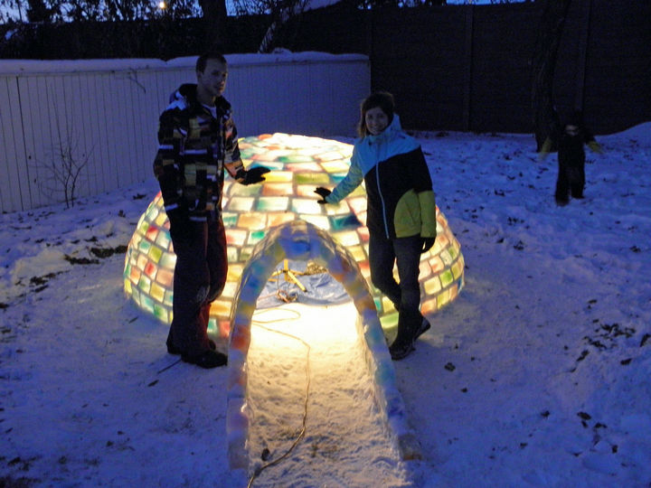 They should be proud because this igloo is the perfect ice hotel.