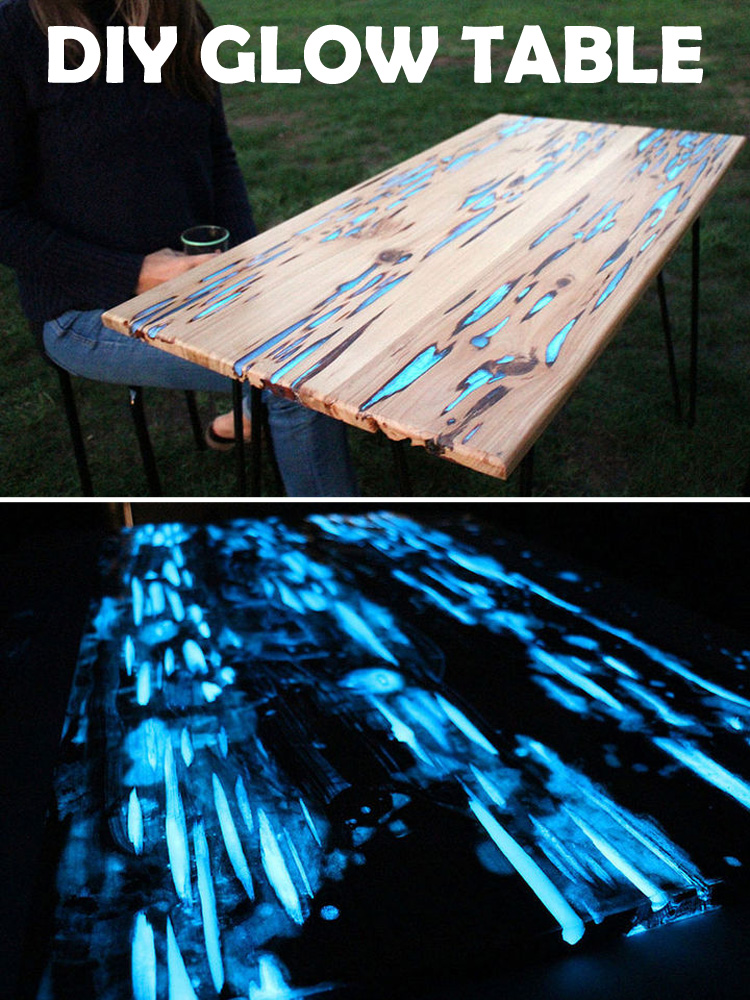 Make This Glow In The Dark Table With Photoluminescent Resin