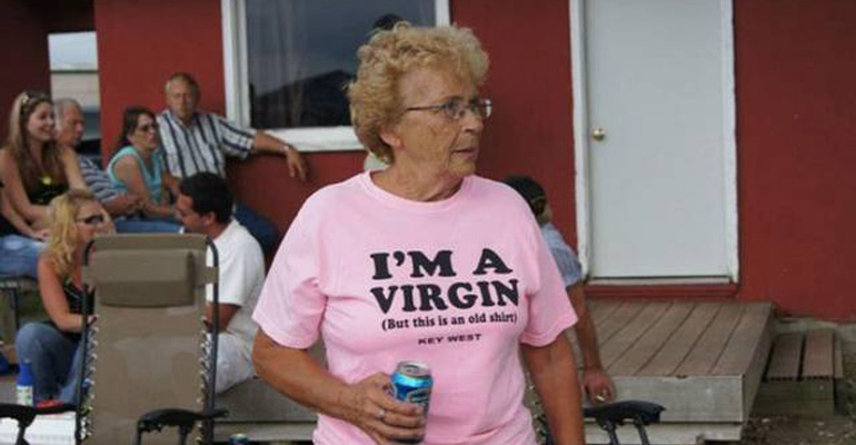 Seniors Wearing Funny T-Shirts That Will Make You Laugh.